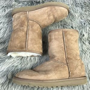 UGG Australia Suede Pull On Flat Boots